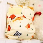baby safari animals aio ai2 easy clean pocket or cloth diaper cover print