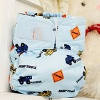 Caution Dump Trucks aio ai2 easy clean pocket or cloth diaper cover