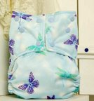 Flights of fancy butterflies dragonflies aio ai2 easy clean snap or cloth diaper cover